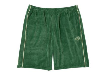 The Black Eye Patch B Emblem Piping Velour Shorts Green (FW21)の写真