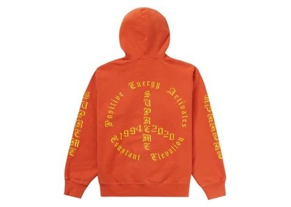 Supreme Peace Hooded Sweatshirt Burnt Orangeの写真