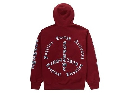 Supreme Peace Hooded Sweatshirt Cardinalの写真