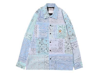 MIYAGIHIDETAKA × Carhartt WIP Bandana Master Shirt Carhartt WIP Store Tokyo Limited Light Blueの写真
