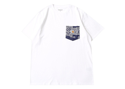 MIYAGIHIDETAKA × Carhartt WIP Bandana Pocket Tee White / Navyの写真