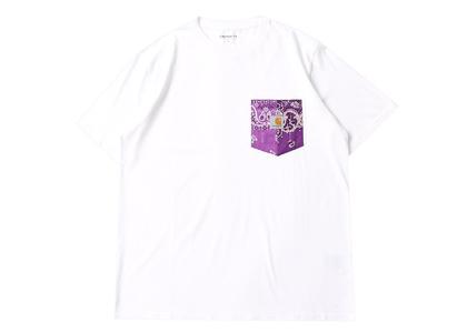 MIYAGIHIDETAKA × Carhartt WIP Bandana Pocket Tee White / Purpleの写真