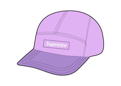 Supreme Waxed Cotton Camp Cap Purple (FW21)の写真