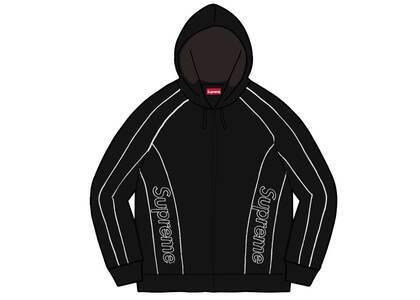 Supreme Track Paneled Zip Up Hooded Sweatshirt Black (FW21)の写真