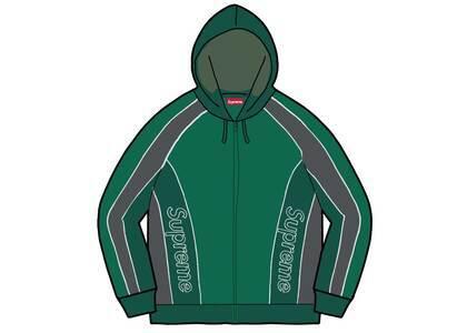 Supreme Track Paneled Zip Up Hooded Sweatshirt Green (FW21)の写真