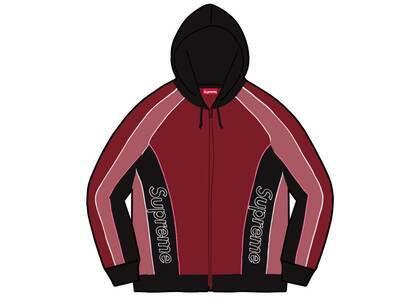 Supreme Track Paneled Zip Up Hooded Sweatshirt Red (FW21)の写真
