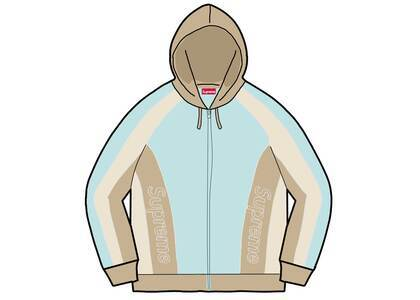 Supreme Track Paneled Zip Up Hooded Sweatshirt Light Blue (FW21)の写真