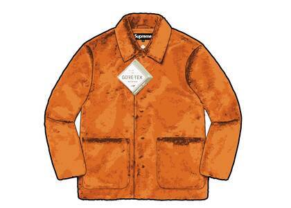 Supreme 2-Tone Faux Fur Shop Coat Orange (FW21)の写真