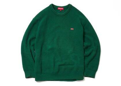 Supreme Textured Small Box Sweater Greenの写真