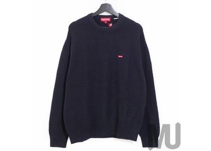 Supreme Textured Small Box Sweater Navyの写真