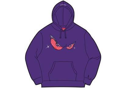 Supreme Eyes Hooded Sweatshirt Purple (FW21)の写真