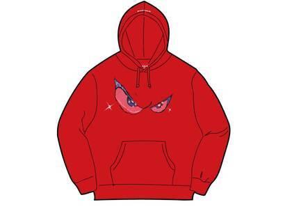 Supreme Eyes Hooded Sweatshirt Red (FW21)の写真
