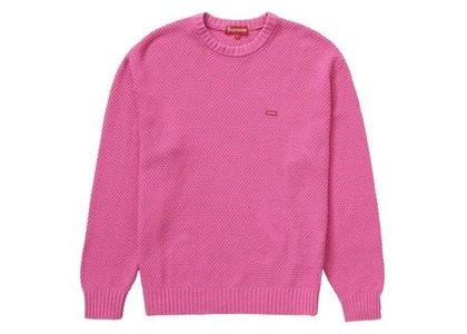 Supreme Textured Small Box Sweater Pinkの写真