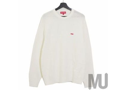 Supreme Textured Small Box Sweater Whiteの写真