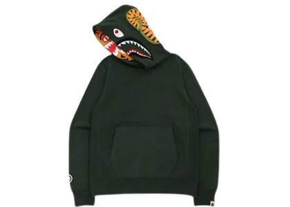 Bape Shark × Tiger Pullover Hoodie Olive (FW21)の写真