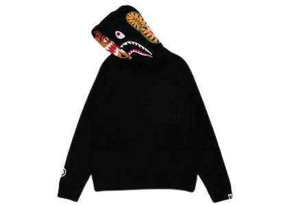 Bape Shark × Tiger Pullover Hoodie Black Womens (FW21)の写真