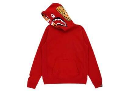Bape Shark × Tiger Pullover Hoodie Red Womens (FW21)の写真