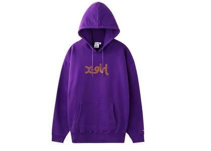 X-girl Rhinestone Logo Sweat Hoodie Purpleの写真