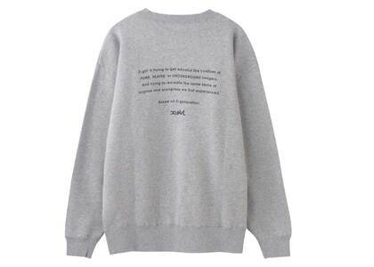 X-girl Face Embroidery Crew Sweat Top Ashの写真