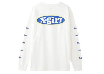 X-girl Oval Logo L/S Tee Whiteの写真