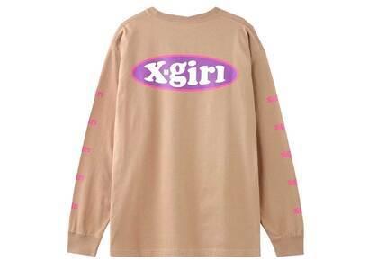 X-girl Oval Logo L/S Tee Beigeの写真