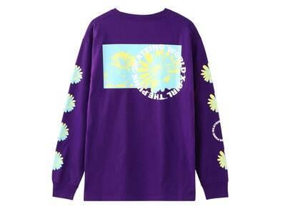 X-girl Monochrome Daisy L/S Tee Purpleの写真