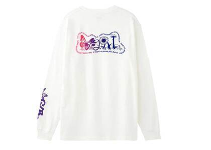 X-girl Flowers Logo L/S Tee Whiteの写真