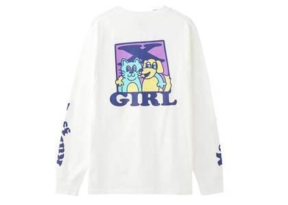 X-girl Cat & Dog L/S Tee Whiteの写真
