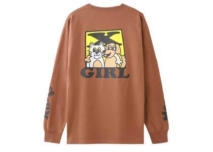 X-girl Cat & Dog L/S Tee Beigeの写真