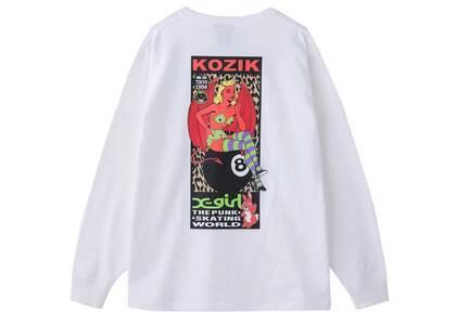 X-girl × Kozik Devil Girl L/S Tee Whiteの写真