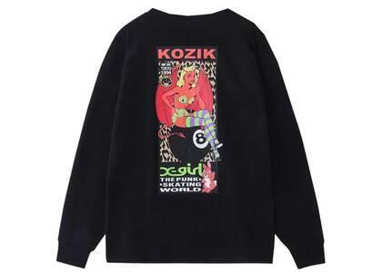 X-girl × Kozik Devil Girl L/S Tee Blackの写真