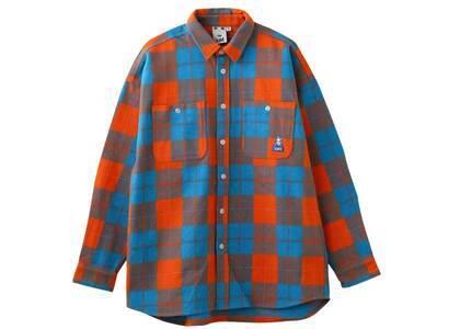 X-girl Face Heavyweight Flannel Shirt Orangeの写真