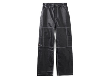 X-girl Leather Work Pants Blackの写真