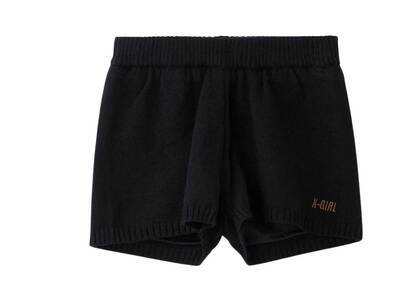 X-girl Knit Short Pants Blackの写真