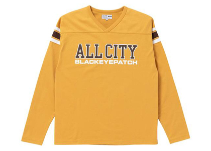 The Black Eye Patch All City Football Heavy-Weight Tee Mustard (FW21)の写真
