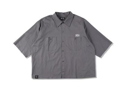 WIND AND SEA A32 H/S Cut-Off Work Shirt Dark Grayの写真