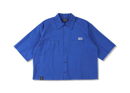 WIND AND SEA A32 H/S Cut-Off Work Shirt Royal Blueの写真