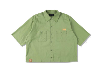 WIND AND SEA A32 H/S Cut-Off Work Shirt Pea Greenの写真