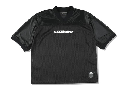 WIND AND SEA A32 Football Jersey Blackの写真