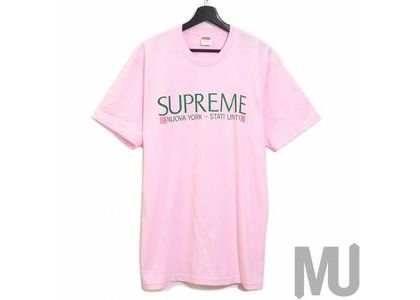 Supreme Nuova York Tee Light Pinkの写真