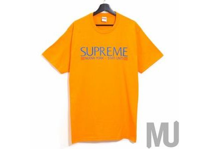 Supreme Nuova York Tee Orangeの写真