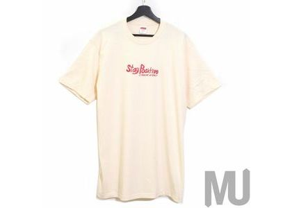 Supreme Stay Positive Tee Naturalの写真