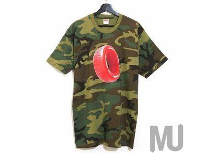 Supreme Tire Tee Woodland Camoの写真