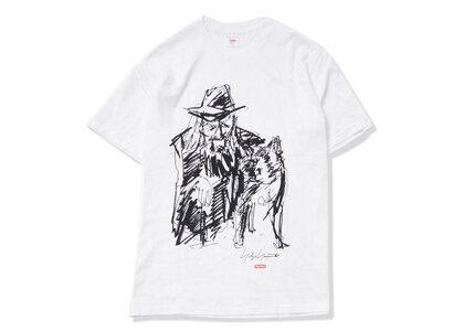 Supreme Yohji Yamamoto Scribble Portrait Tee Whiteの写真