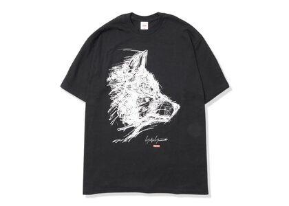 Supreme Yohji Yamamoto Scribble Wolf Tee Blackの写真
