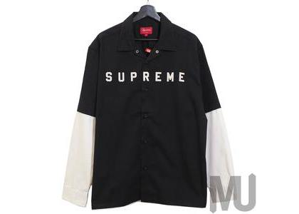 Supreme 2-Tone Work Shirt Blackの写真