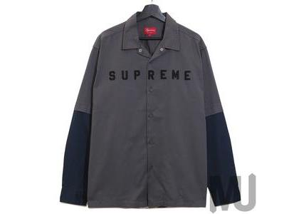 Supreme 2-Tone Work Shirt Dark Greyの写真