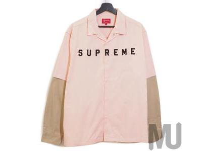 Supreme 2-Tone Work Shirt Pinkの写真