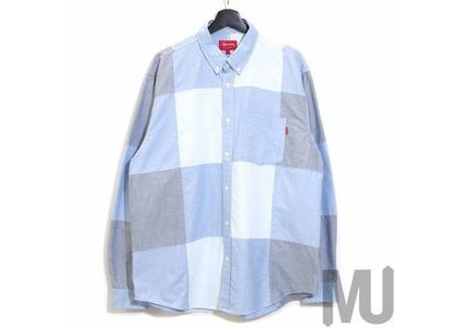 Supreme Patchwork Oxford Shirt Blueの写真