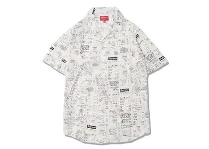 Supreme Receipts Rayon S-S Shirt Whiteの写真